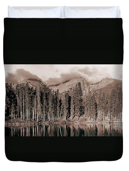 Sprague Lake Morning Duvet Cover