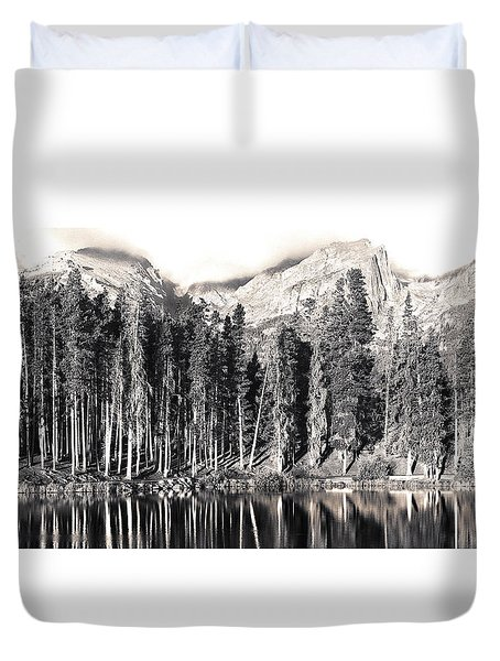 Sprague Lake Duvet Cover by Thomas Bomstad