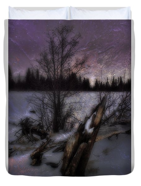 Duvet Cover featuring the photograph Sprague Lake Winter Dream by Ellen Heaverlo