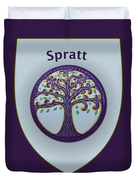 Spratt Family Crest Duvet Cover