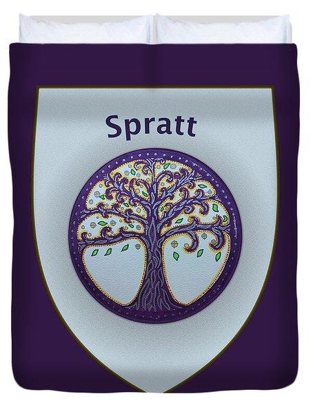 Spratt Family Crest Duvet Cover
