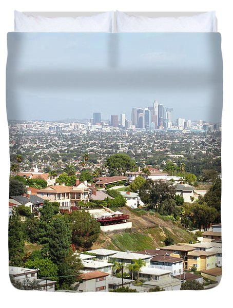 Sprawling Homes To Downtown Los Angeles Duvet Cover