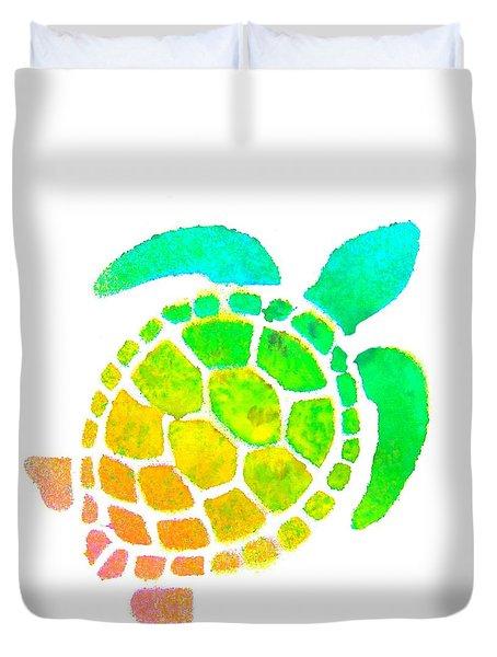 Spray Turtle  Duvet Cover