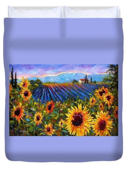 Duvet Cover featuring the painting Spread A Little Sunshine by Chris Brandley