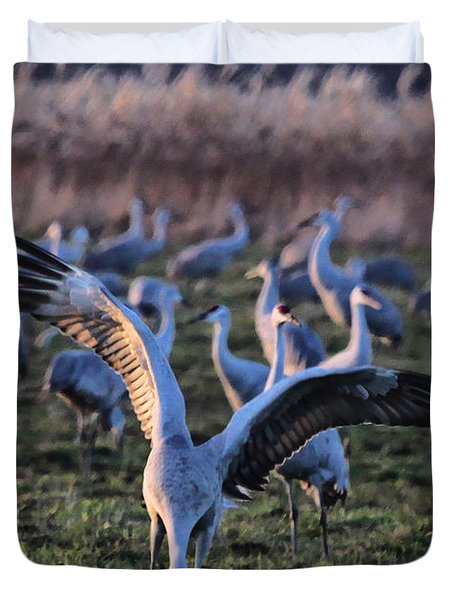 Duvet Cover featuring the photograph Spread Your Wings by Shari Jardina