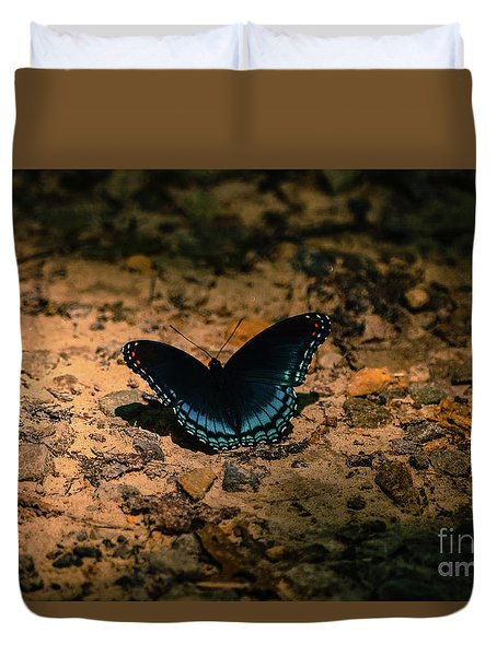 Duvet Cover featuring the photograph Spreadin My Wings by Brenda Bostic