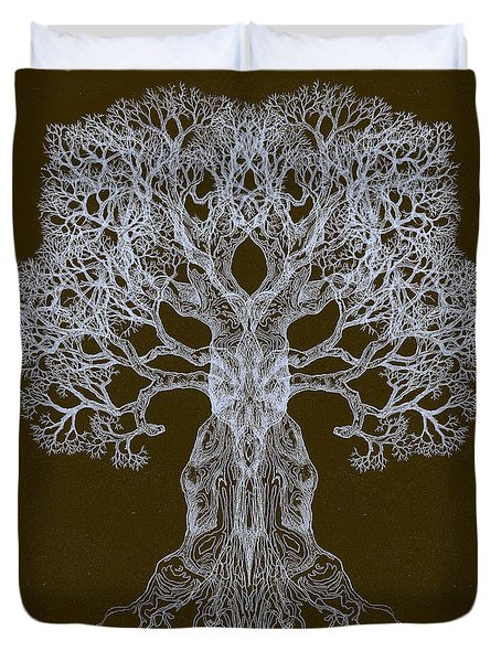 Spreading In Every Direction Tree 13 Hybrid 3 Duvet Cover