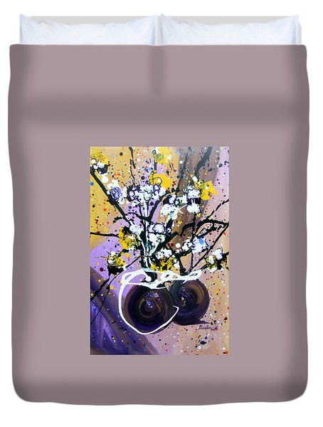 Spreading Joy Duvet Cover by Pearlie Taylor