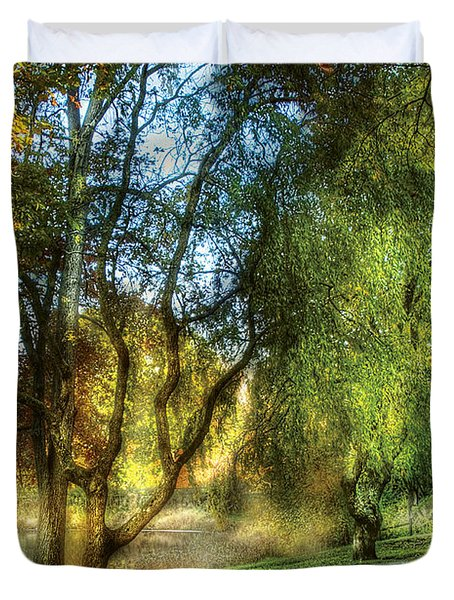 Spring - Landscape - My Journey My Path Duvet Cover by Mike Savad