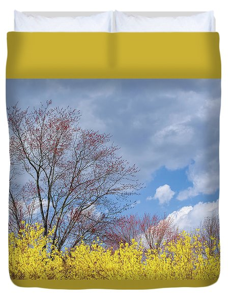 Duvet Cover featuring the photograph Spring 2017 by Bill Wakeley