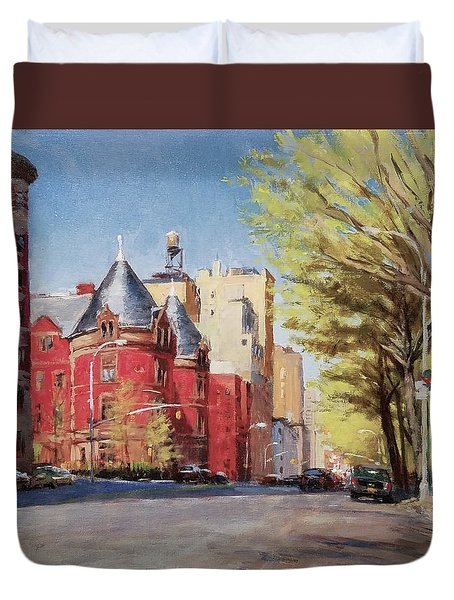 Spring Afternoon, Central Park West Duvet Cover by Peter Salwen