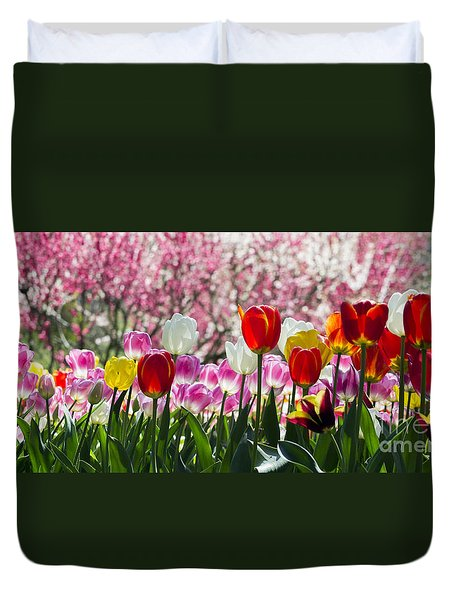 Duvet Cover featuring the photograph Spring by Angela DeFrias
