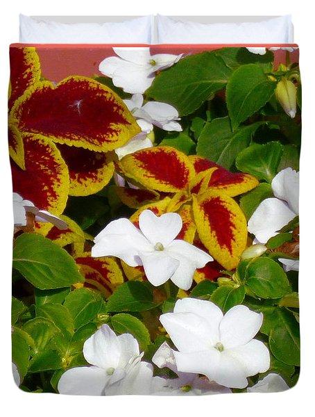 Spring Annuals Duvet Cover