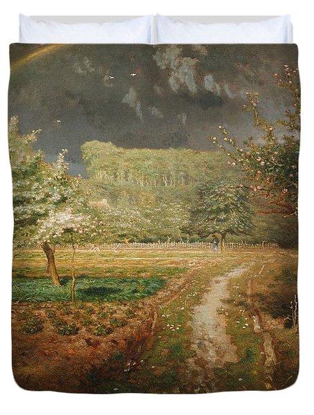 Spring At Barbizon Duvet Cover by Jean Francois Millet