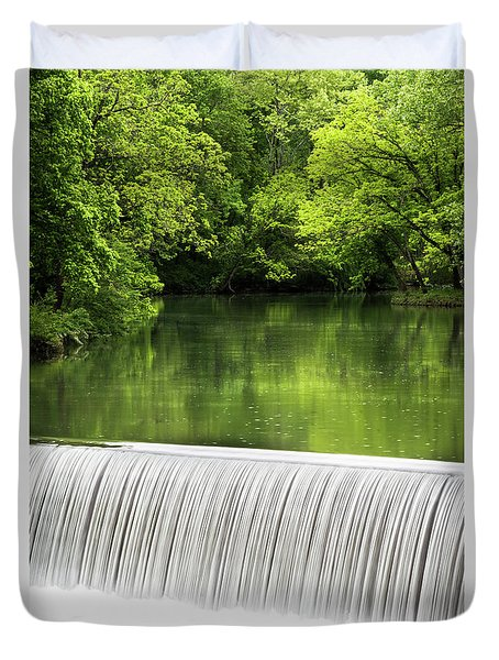 Duvet Cover featuring the photograph Spring At Buck Creek by Parker Cunningham