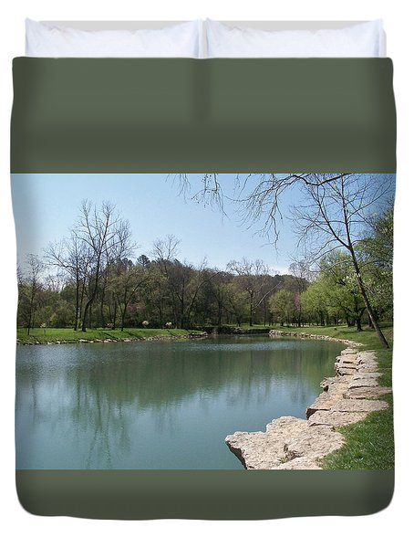 Spring At Dogwood Canyon  Duvet Cover by Julie Grace