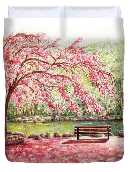 Spring At Lithia Park Duvet Cover