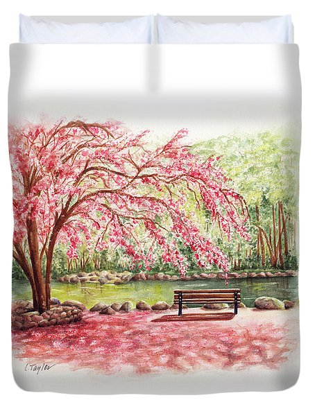 Spring At Lithia Park Duvet Cover
