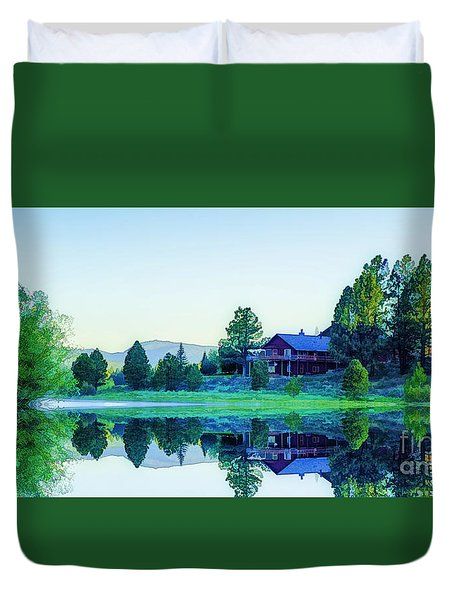 Spring At The Cabin Duvet Cover by Nancy Marie Ricketts