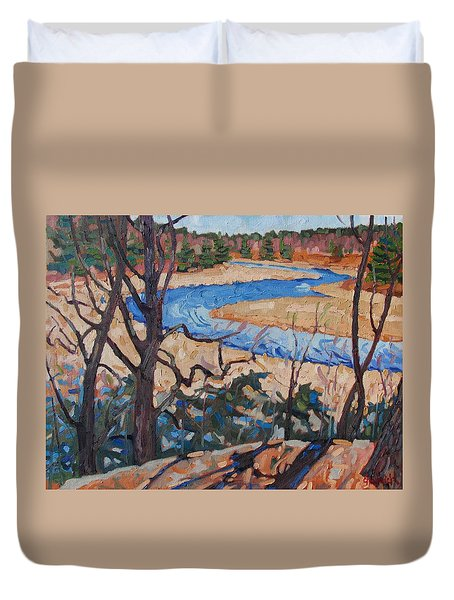 Spring At The Jones Duvet Cover by Phil Chadwick