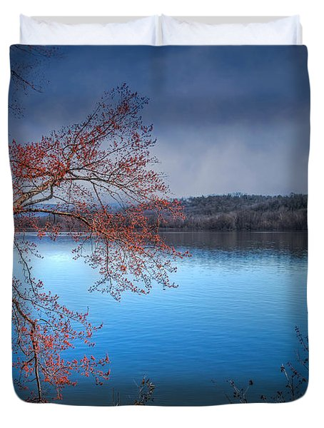 Spring At The Lake Duvet Cover