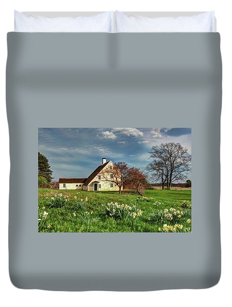 Duvet Cover featuring the photograph Spring At The Paine House by Wayne Marshall Chase