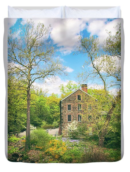 Spring At The Stone Mill  Duvet Cover by Jessica Jenney