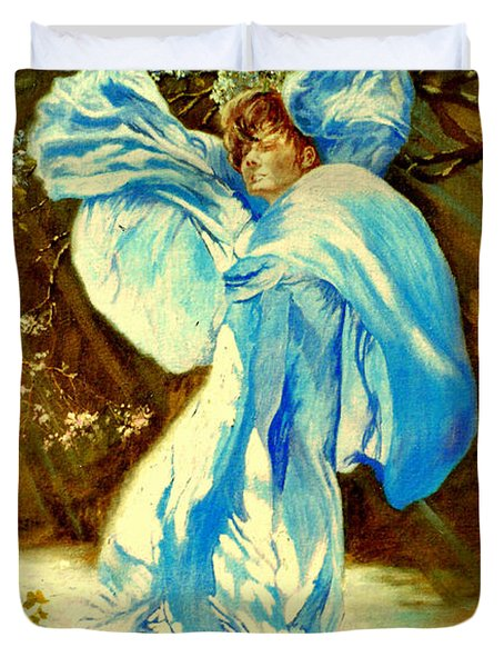 Duvet Cover featuring the painting Spring - Awakening by Henryk Gorecki