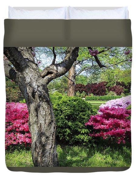 Spring Azaleas Duvet Cover
