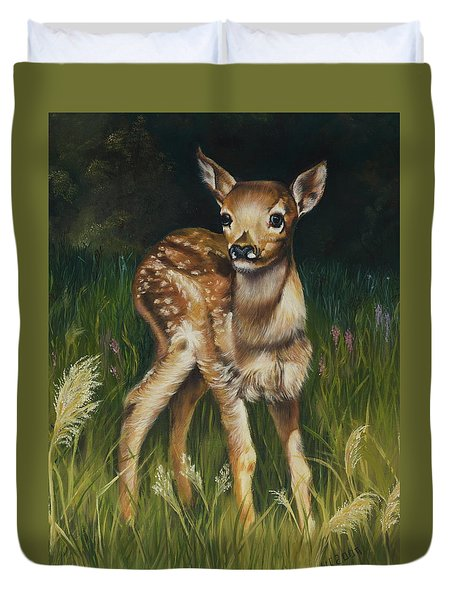 Spring Baby Fawn Duvet Cover