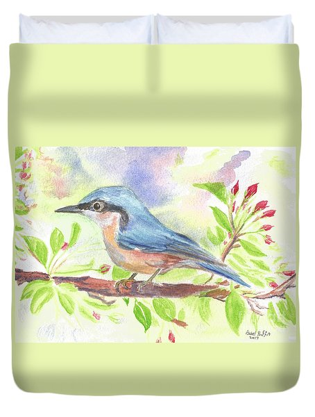 Spring Bird  Duvet Cover by Isabel Proffit