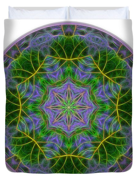 Spring Bloom Colors Mandala Duvet Cover