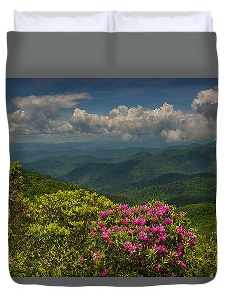 Spring Blooms On The Blue Ridge Parkway Duvet Cover