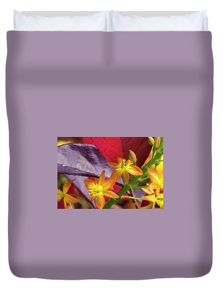 Duvet Cover featuring the photograph Spring Blossoms 2 by Stephen Anderson