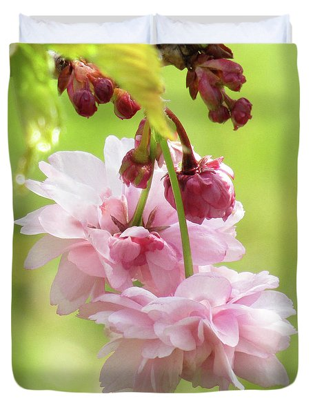 Spring Blossoms #8 Duvet Cover by Kim Tran