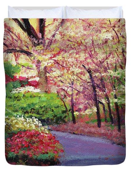 Spring Blossoms Impressions Duvet Cover