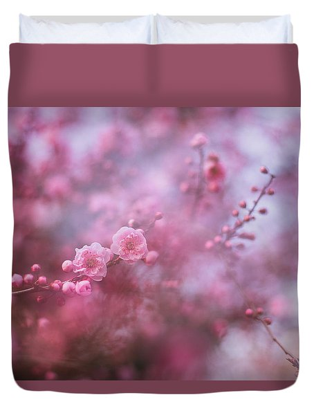Spring Blossoms In Their Beauty Duvet Cover