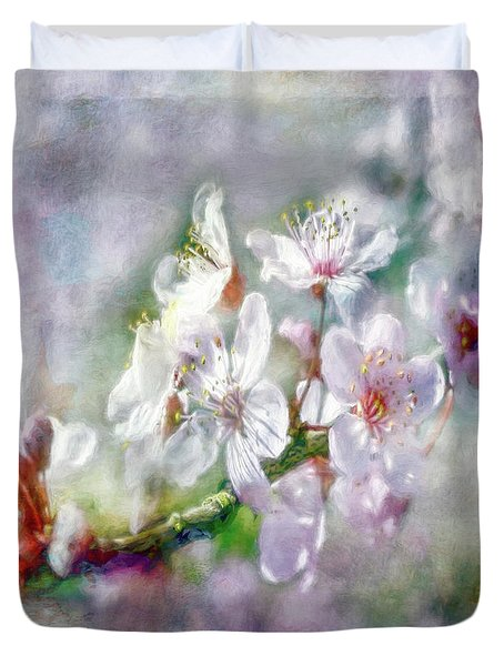 Spring Blossoms Duvet Cover by Jean OKeeffe Macro Abundance Art