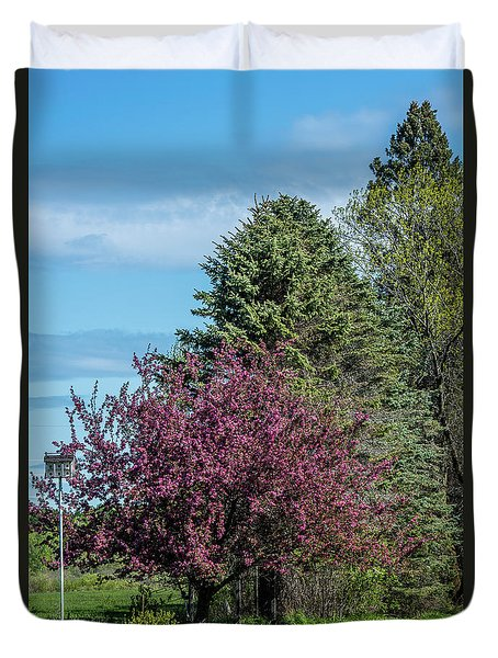Duvet Cover featuring the photograph Spring Blossoms by Paul Freidlund