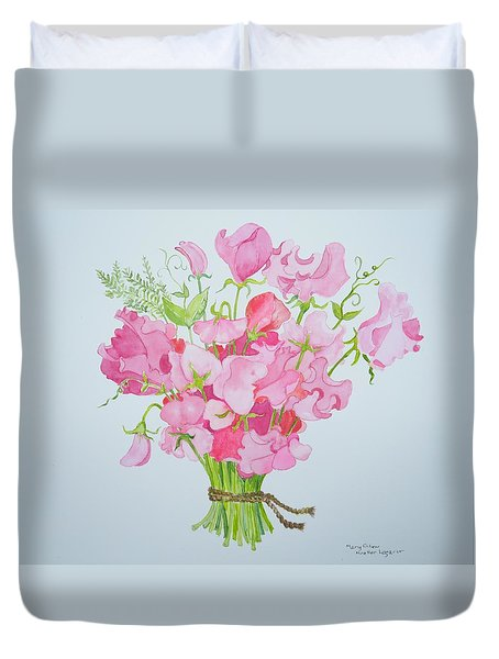 Spring Bouquet Duvet Cover by Mary Ellen Mueller Legault