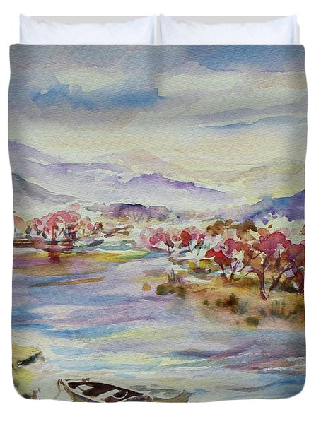 Spring Breeze Duvet Cover by Xueling Zou