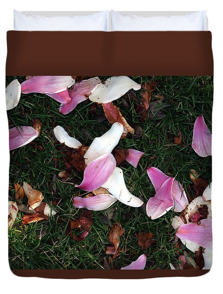 Duvet Cover featuring the photograph Spring Carpet by Dorin Adrian Berbier