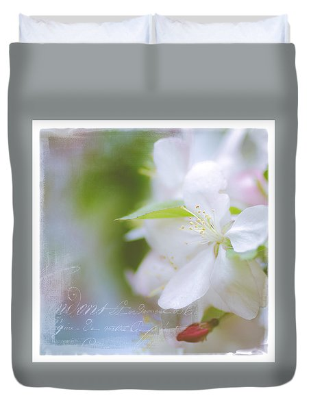 Spring Cherry Blossoms Duvet Cover
