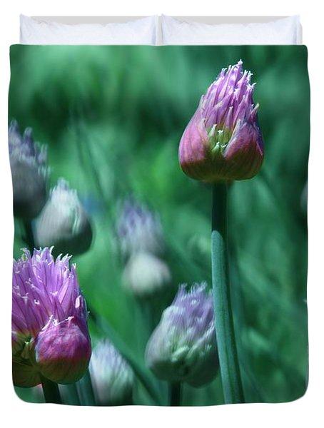 Spring Chives Duvet Cover