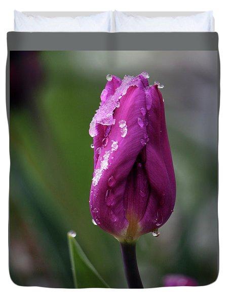 Spring Coat Duvet Cover by Silke Brubaker