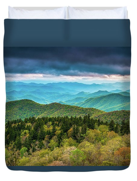 Duvet Cover featuring the photograph Spring Colors by Joye Ardyn Durham