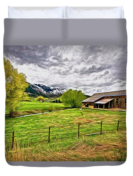 Spring Coming To Life Duvet Cover