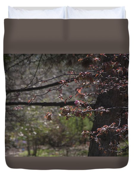 Spring Crabapple Duvet Cover by Morris  McClung