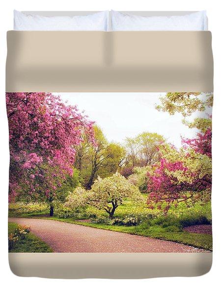 Spring Crescendo Duvet Cover by Jessica Jenney