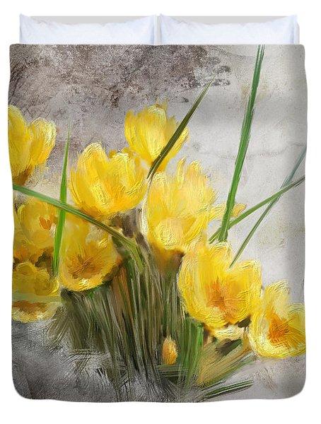 Spring Crocus Duvet Cover